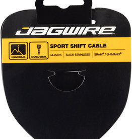 Jagwire Sport Shift Cable - 1.1 x 4445mm, Slick Stainless Steel, For SRAM/Shimano Tandem
