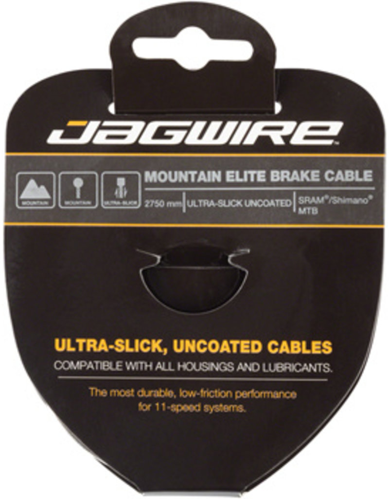 Jagwire Elite Ultra-Slick Brake Cable Stainless 1.5 x 2750mm SRAM/Shimano Mountain