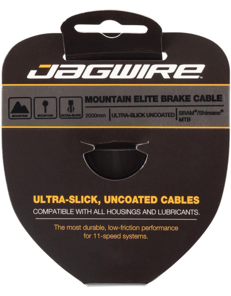 Jagwire Elite Ultra-Slick Brake Cable 1.5x2000mm Polished Slick Stainless SRAM/Shimano MTB