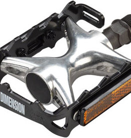 "Dimension Mountain Compe Pedals - Platform, Aluminum, 9/16"", Black/Silver"