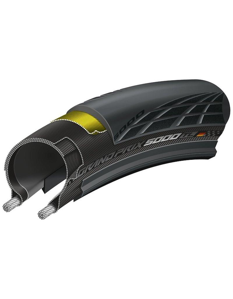Continental Continental Grand Prix 5000 Tire - 700 x 28, Tubeless, Folding, Black, 180tpi