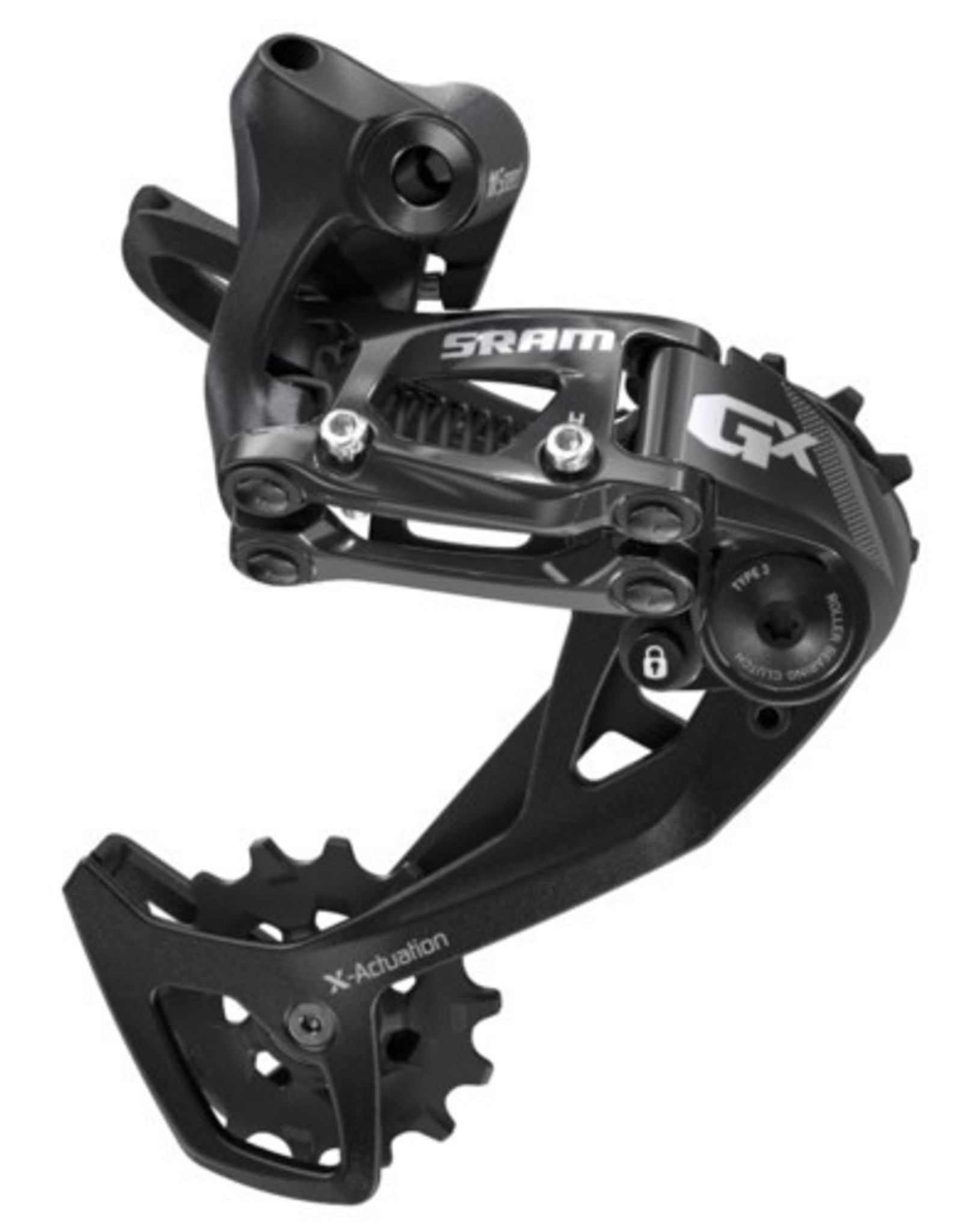 SRAM SRAM GX Rear Derailleur - 11 Speed, Long Cage, Black, 2x, With Clutch