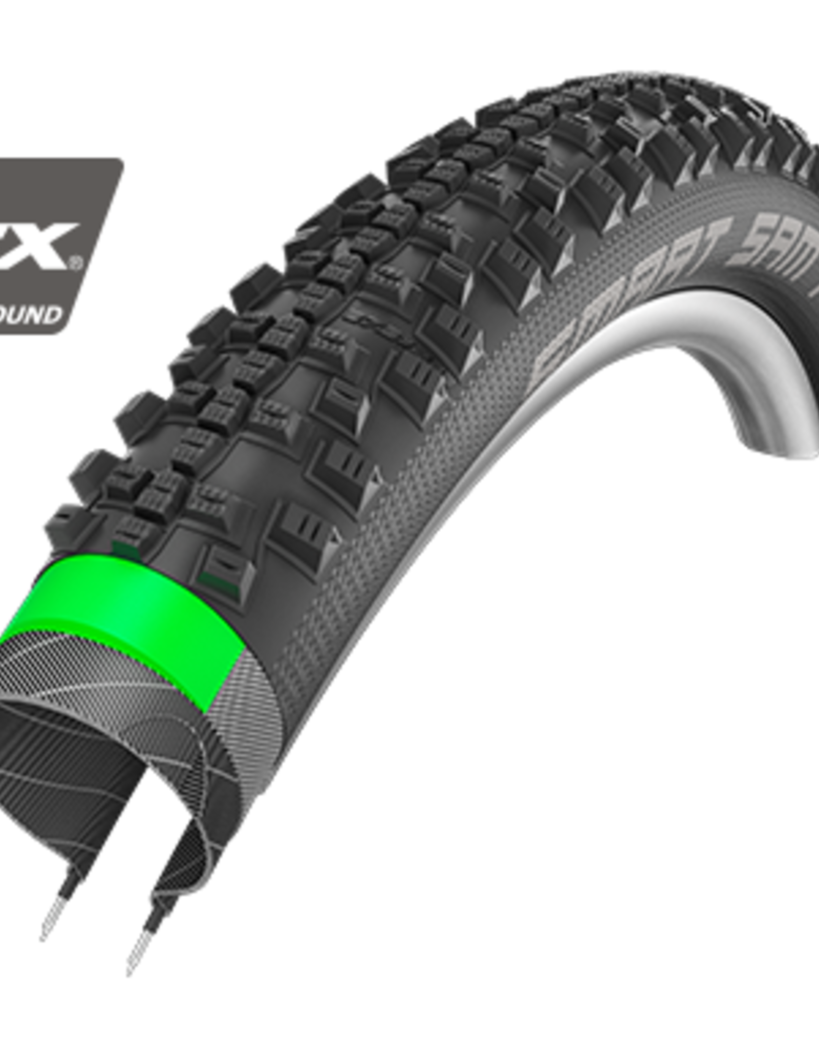 Smart Sam Plus HS 476, Performance Line, Wire Bead, 54-559/26x2.10, Double Defense, GreenGuard, Addix Performance, Black