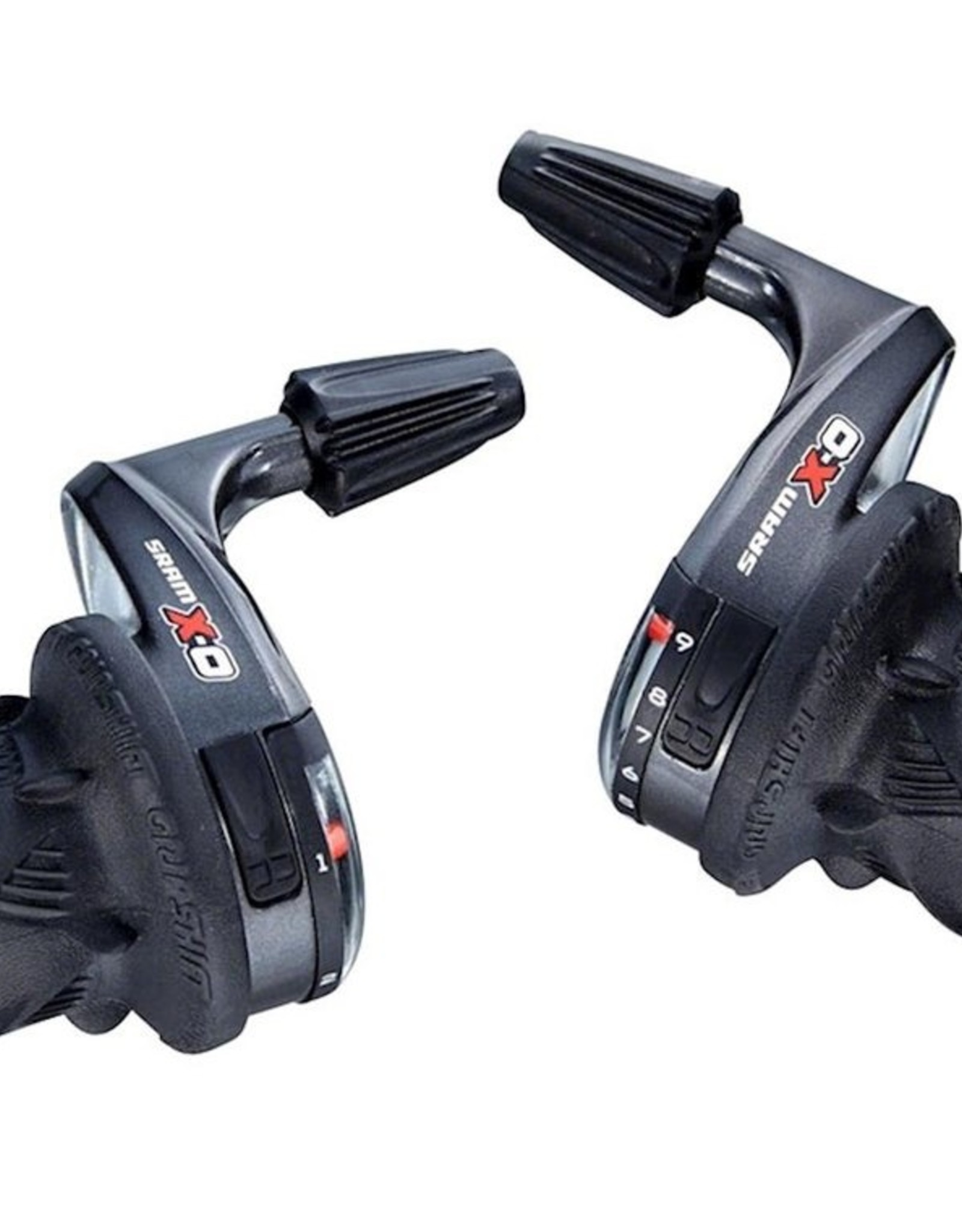 SRAM X0 3 x 9 Speed Twist Shifter Set, Left Shifter is Microfriction