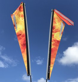 T-Cycle Flame Flag
