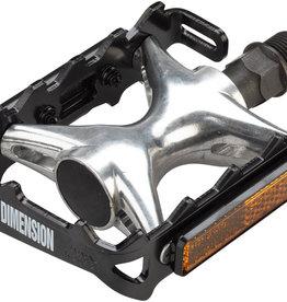 """Black/Silver Dimension Mountain Compe Pedals - Platform, Aluminum, 9/16"""","""