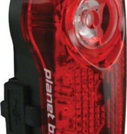 Planet Bike Superflash USB-Rechargeable Tail Light: Red/Black