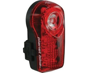 Red//Clear//White Planet Bike LED Superflash Turbo Taillight
