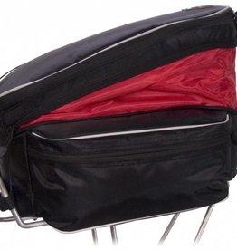 Banjo Brothers Expanding Rack Top Bag: Black