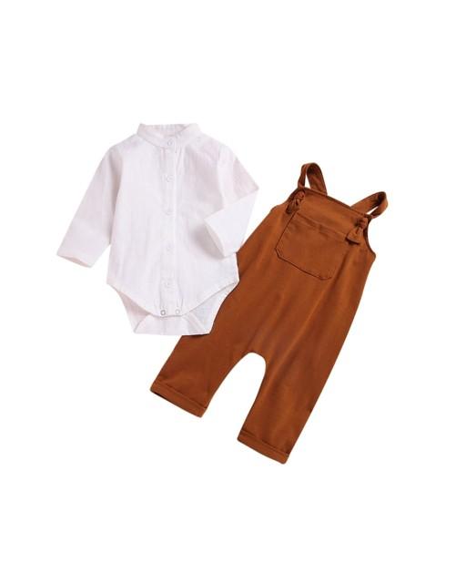 Linen Mandarin Collar Two-Piece