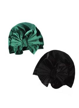 Velvet Bow Topknots
