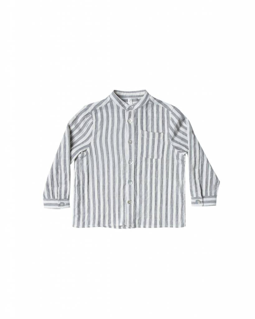 Rylee+Cru Striped Mock Neck Shirt