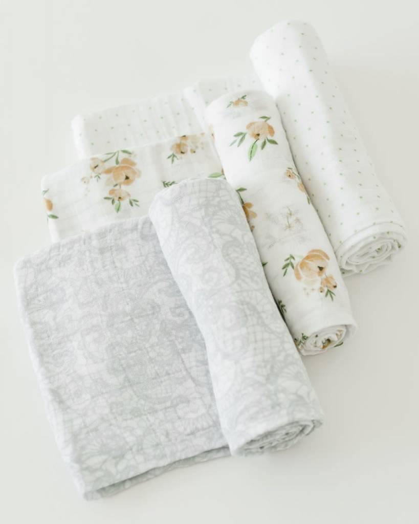 Little Unicorn Cotton Muslin Swaddles 3 Pack