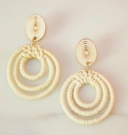 Wood & Woven Art Earring