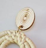 Wood & Woven Art Earring