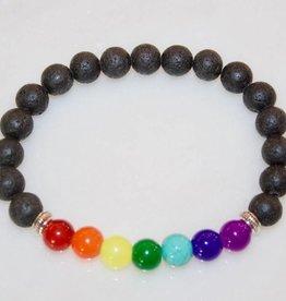 Lava Stone Chakra Bracelet