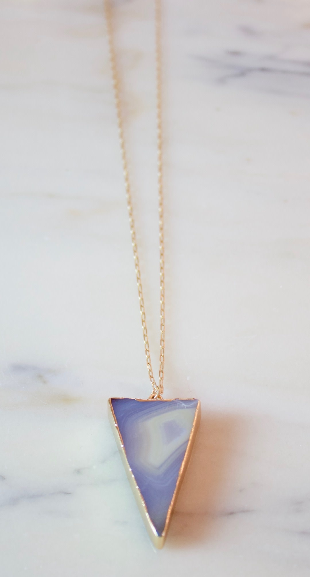 Pyramid Agate Neck