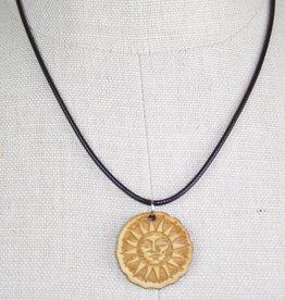 Woodcut Sun Pendant