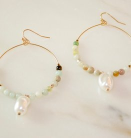 Amazonite Pearl Drops