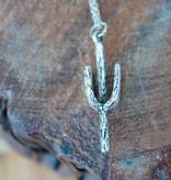Desert Cactus Silver Necklace