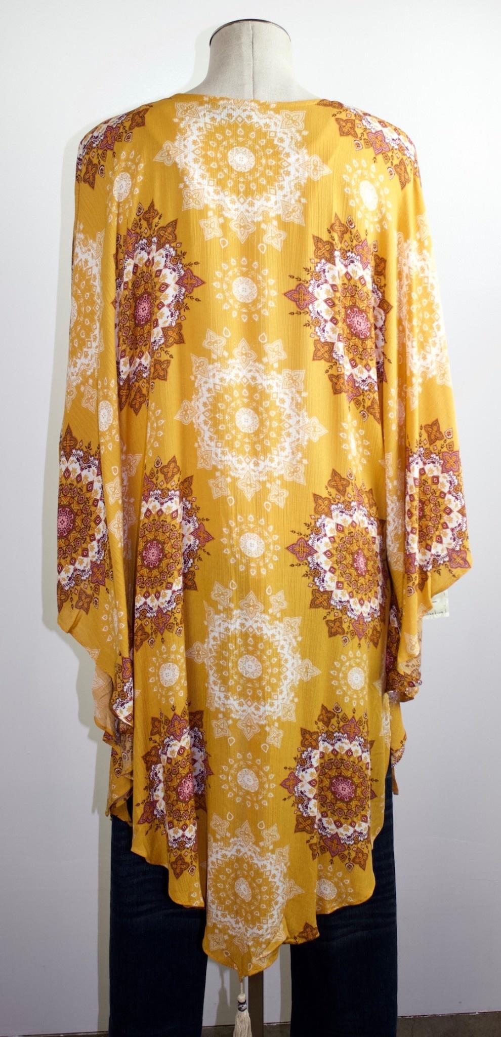 Mandala Matrix Kimono