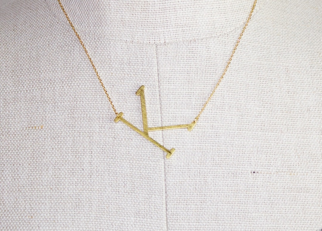 Gold Dipped Initial
