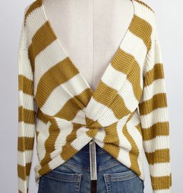 Back Twist Sweater