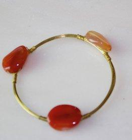 Wire Wrap Stone Bracelet