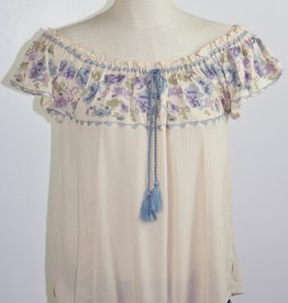 Cross Stitch Peasant Top