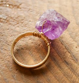 Amethyst Rock On Ring