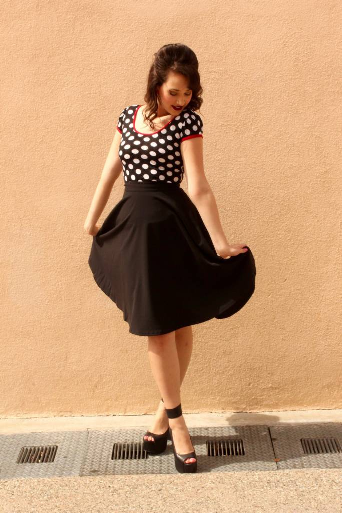 d8352da44 High Waist Thrills Skirt w/Pockets | Rockabilly Pinup Fashion Tops ...