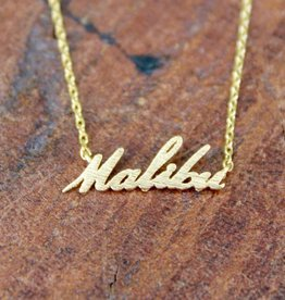 Malibu Cursive Necklace