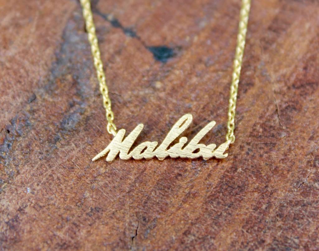 Malibu Cursive Necklace