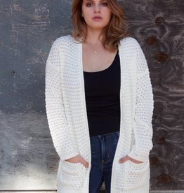 Happy Place Cardigan Ivory
