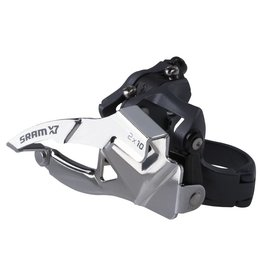 Sram, X-7, Front derailleur, 3X9sp, Bottom Swing, Top Pull, 31.8/34.9mm Clamp