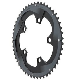 SRAM 52 Tooth 11-Speed 110mm Yaw Chainring Black with Silver Trim, Use with 36 or 38T