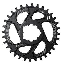 Sram, 11.6218.018.002, 34T, 11sp, Direct, X-Sync DM, Middle Chainring, Offset 6 mm, Aluminium, Black
