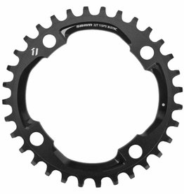 Sram, 32D, 11sp, BCD: 104mm, 4 Bolts, X01 X-Sync, Middle Chainring, For 104mm BCD FC, Aluminum, Black, 11.6218.013.000