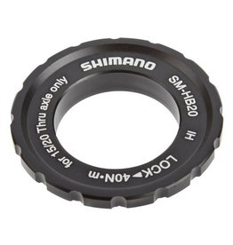 Shimano HB20 15/20mm Axle Hub Centerlock Disc Rotor Lockring