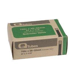 """Q-Tubes 700c x 28-32mm Schrader Valve Tube 128g (27 x 1-1/4"""")"""