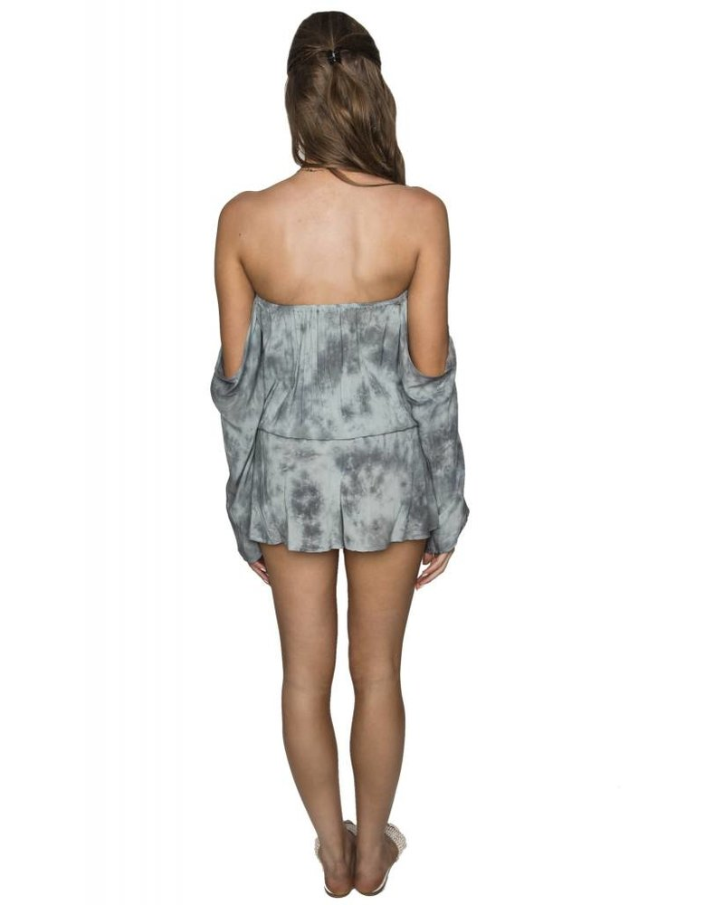 BLUE LIFE Sage Gray Life's a Beach Romper