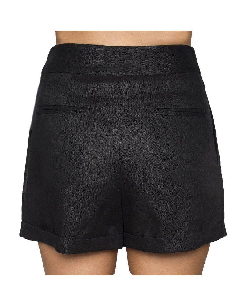 Whitney Linen Black PalmBeach Shorts