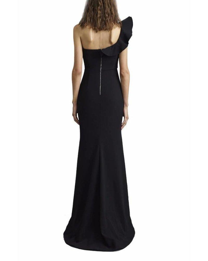 REBECCA VALLANCE Black Gigi Bustier Gown