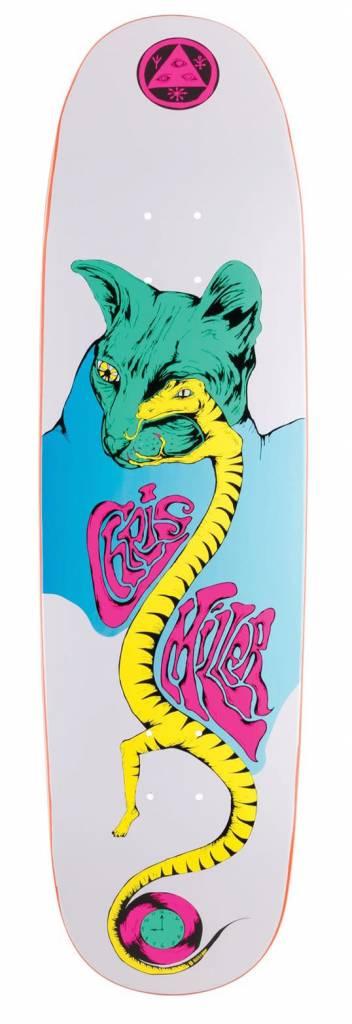 Welcome Welcome Chris Miller Lizard Eye on Catblood 2.0 White Deck - 8.75 x 32.88