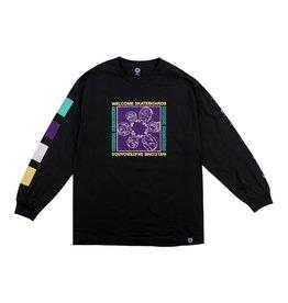 Welcome Welcome Seance Longsleeve T-shirt - Black/Purple (size Medium)