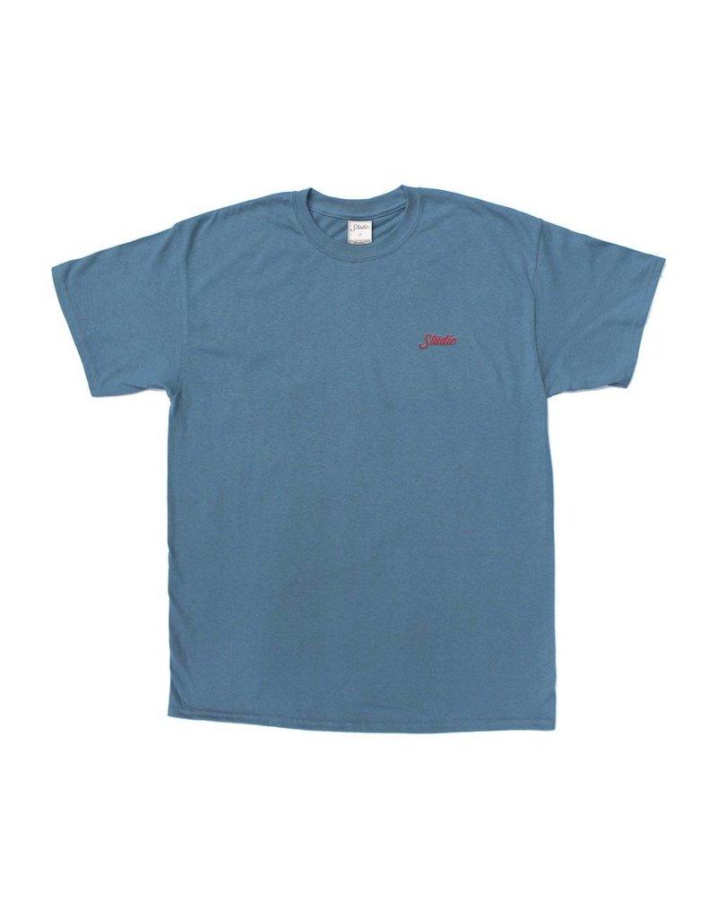 Studio Studio Small Script T-shirt - Slate (size Large or X-Large)
