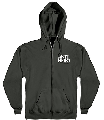 Anti-Hero Anti-Hero Lil Blackhero Zip-up Hoodie - Black (size Medium or X-Large)
