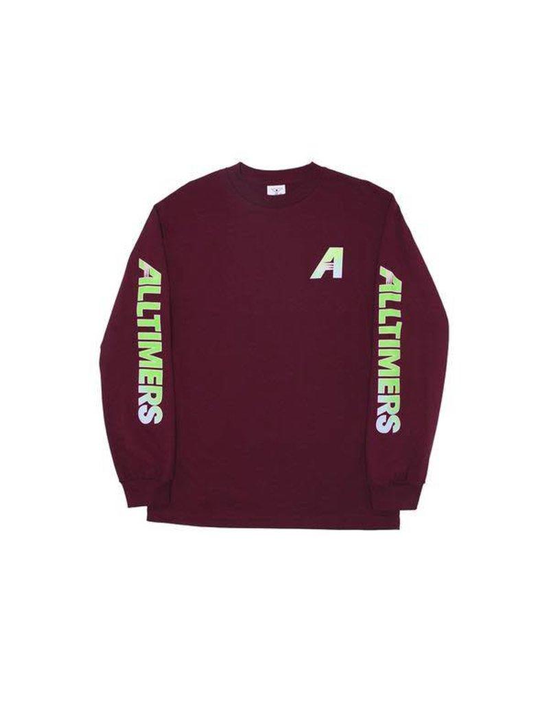 Alltimers Alltimers Artist Longsleeve T-shirt - Burgundy (size Large)