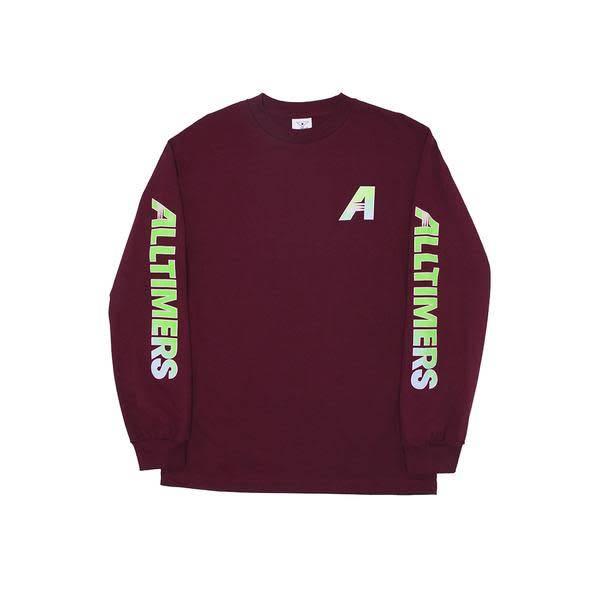 Alltimers Alltimers Artist Longsleeve T-shirt - Burgundy