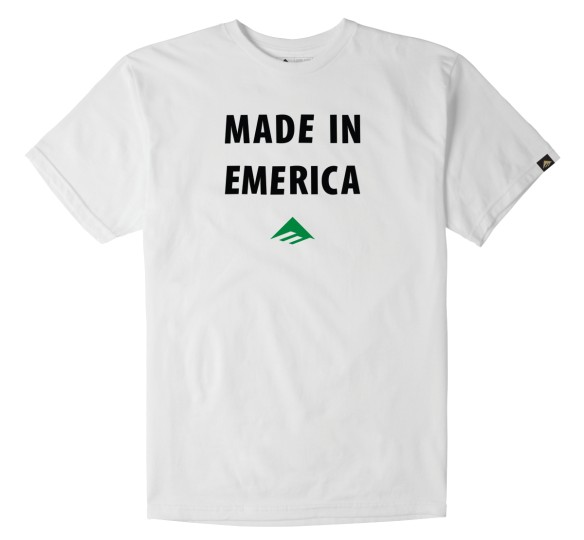 Emerica Emerica Made in Emerica T-shirt - White (size Medium or Large)